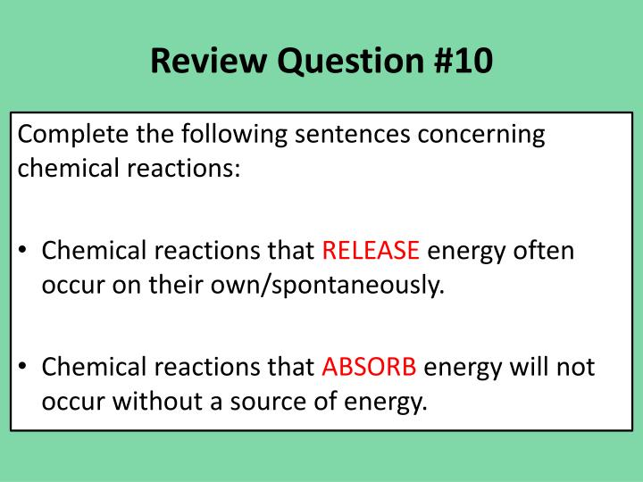 Review Question #10