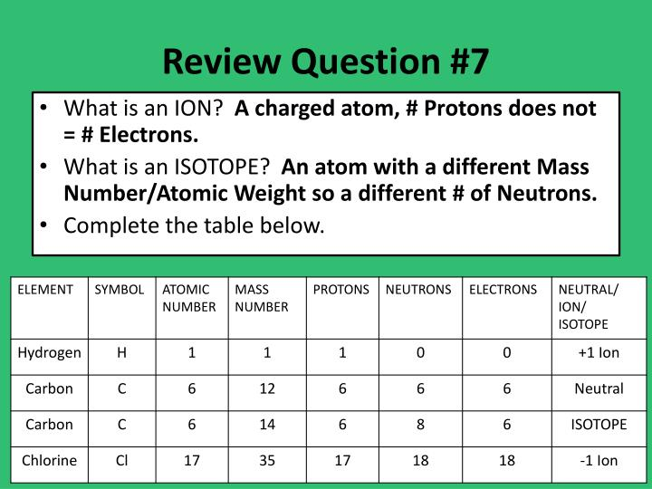 Review Question #7