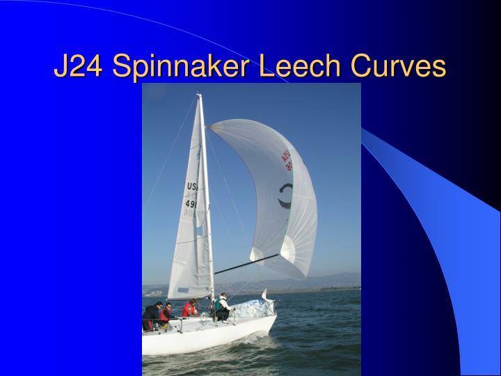 J24 Spinnaker Leech Curves