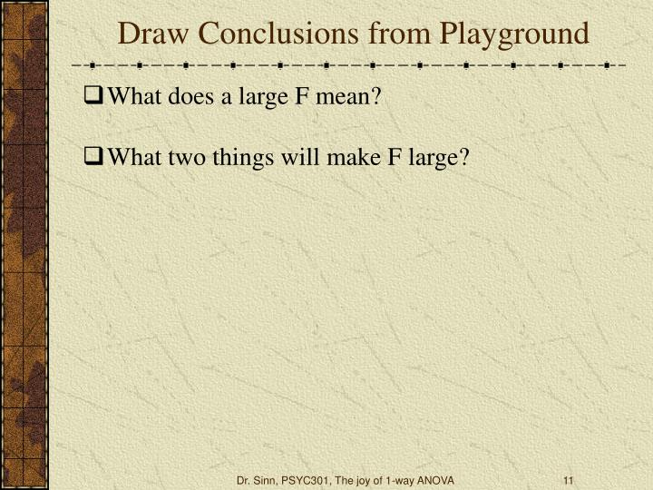 Draw Conclusions from Playground