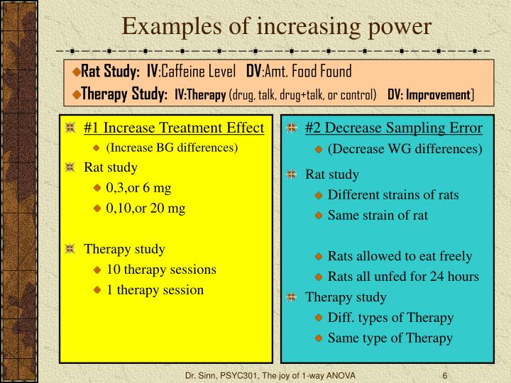 #1 Increase Treatment Effect