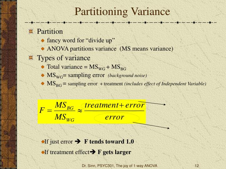 Partitioning Variance