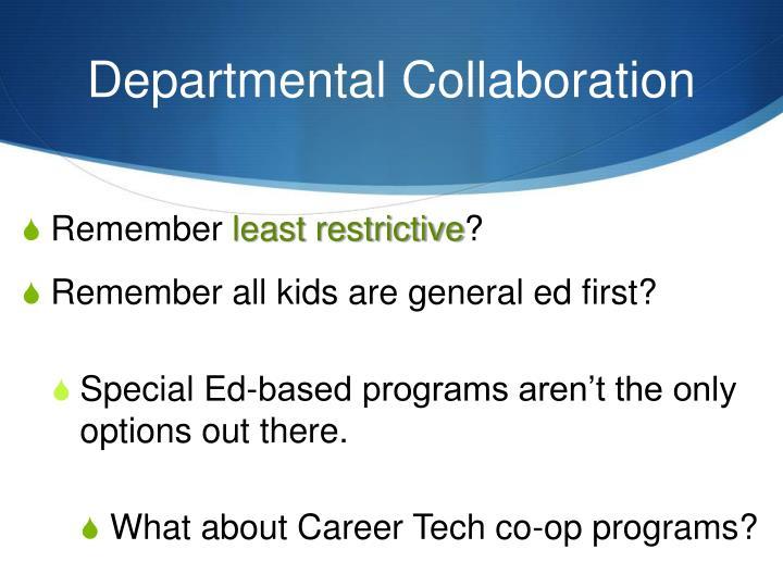 Departmental Collaboration