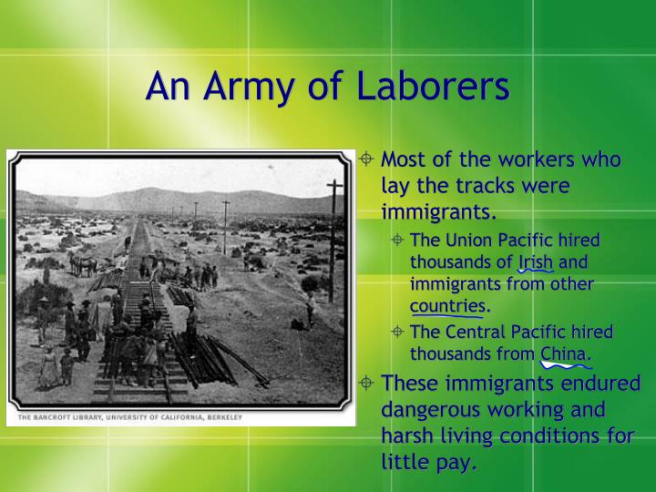 An Army of Laborers