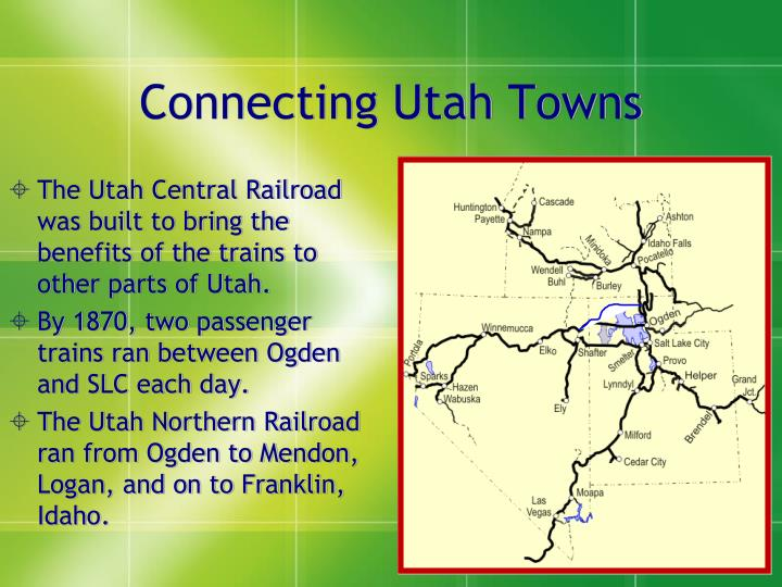 Connecting Utah Towns
