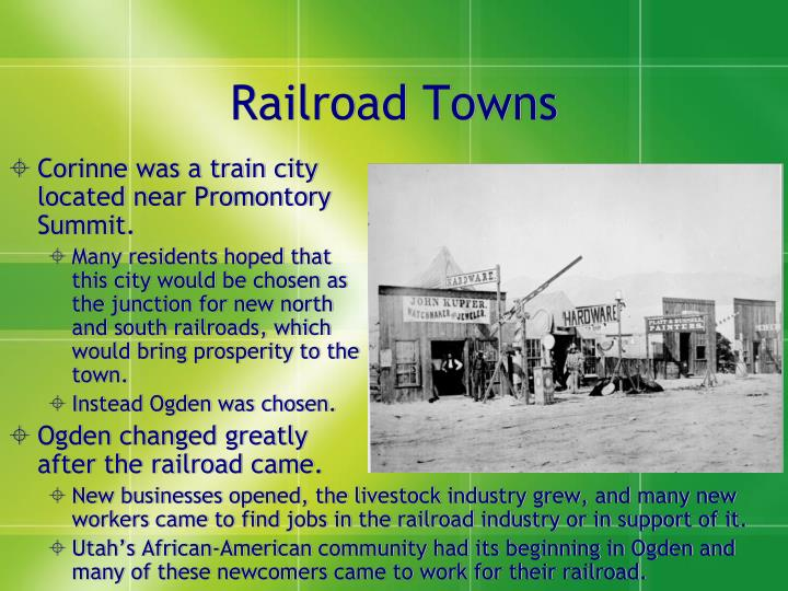 Railroad Towns