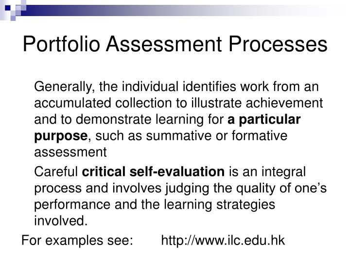 Portfolio Assessment Processes