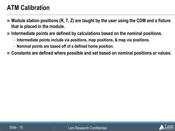 ATM Calibration