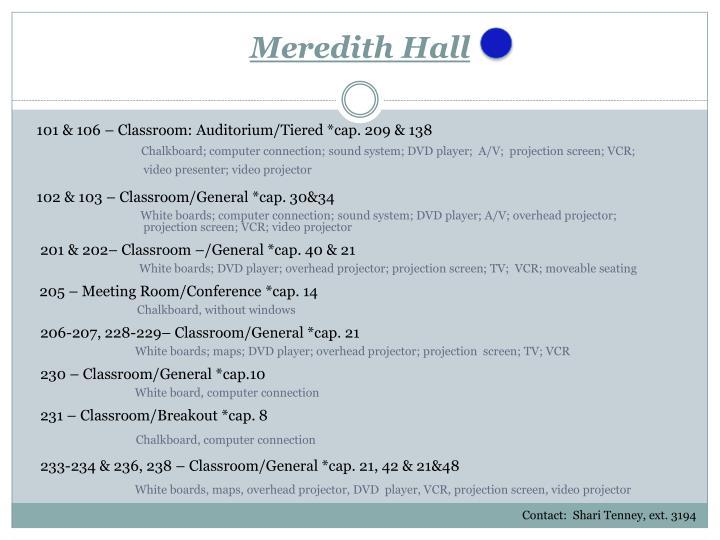 Meredith Hall
