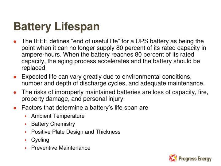 Battery Lifespan