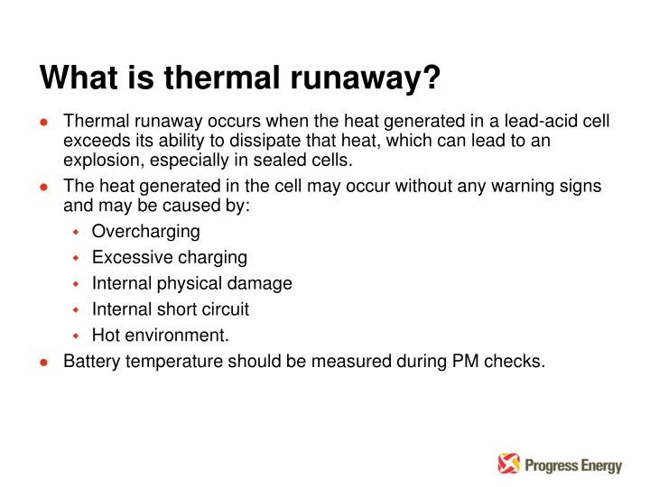 What is thermal runaway