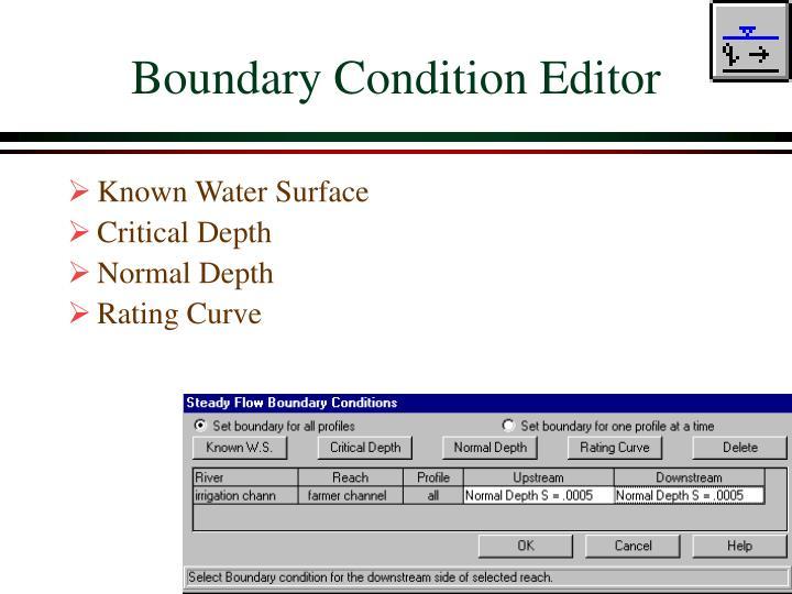 Boundary Condition Editor