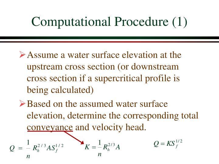 Computational Procedure (1)