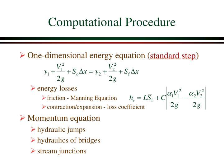 Computational Procedure