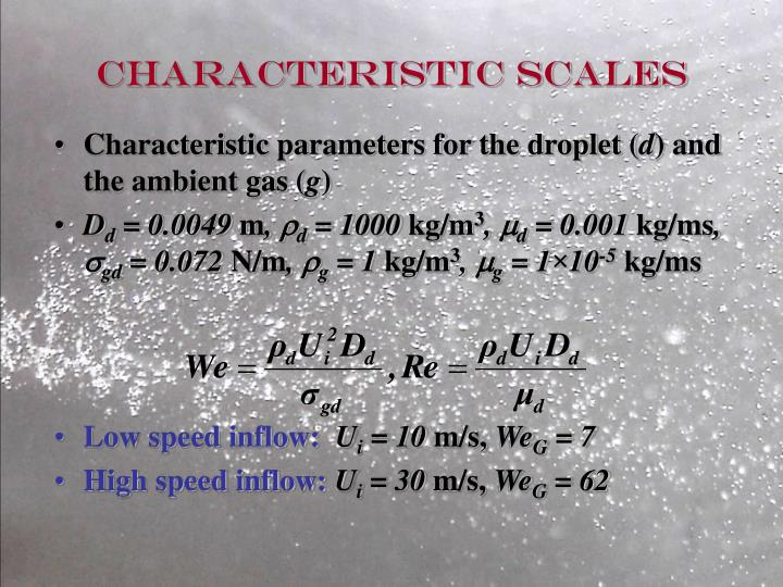 Characteristic scales