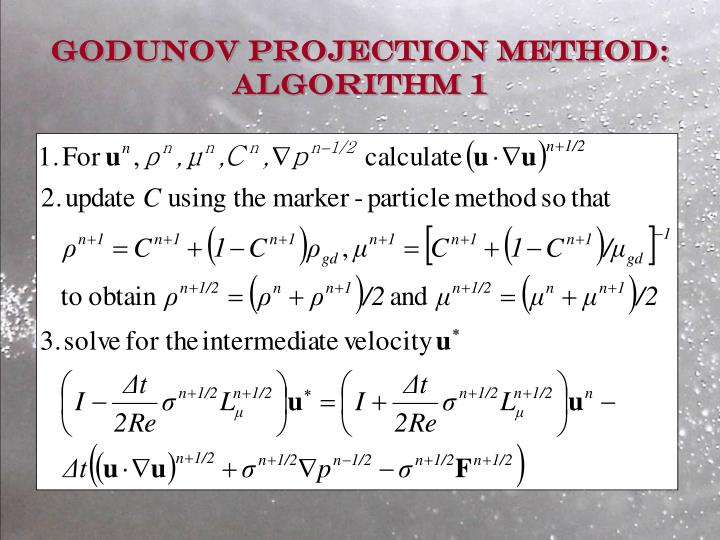 Godunov Projection Method: Algorithm 1