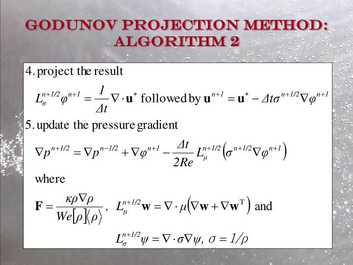 Godunov Projection Method: Algorithm 2