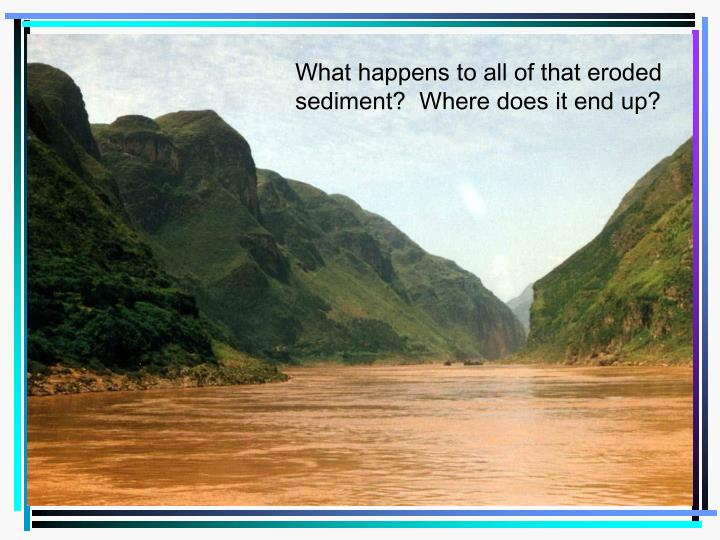 What happens to all of that eroded sediment?  Where does it end up?