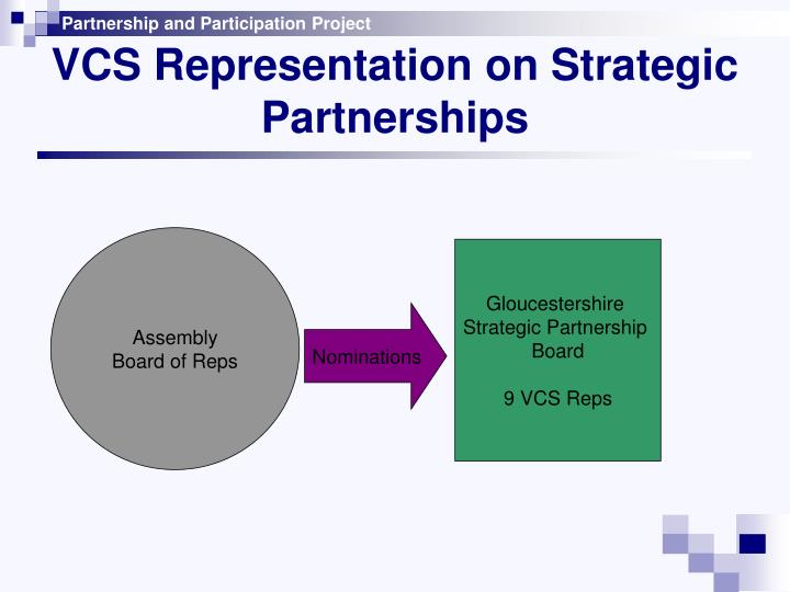 VCS Representation on Strategic Partnerships