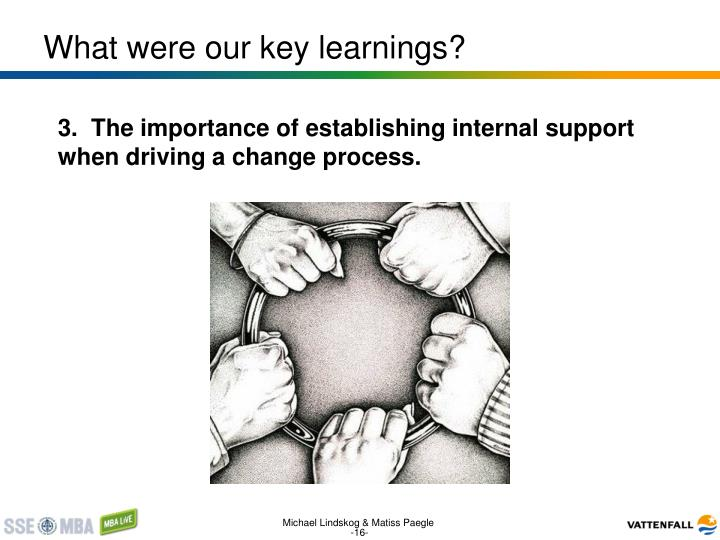 What were our key learnings?