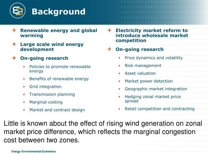 Renewable energy and global warming