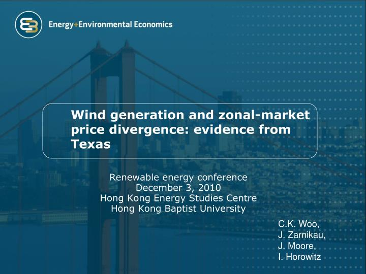 wind generation and zonal market price divergence evidence from texas