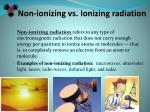 non ionizing vs ionizing radiation