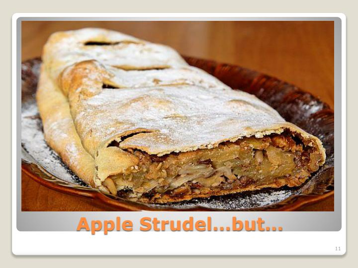Apple Strudel…but…
