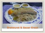 bratwurst sauer kraut