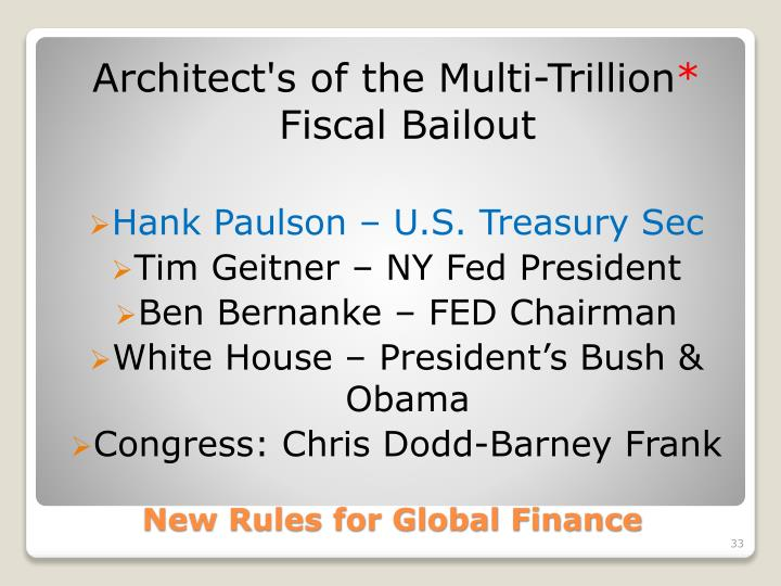Architect's of the Multi-Trillion