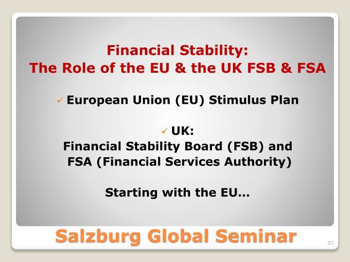Financial Stability: