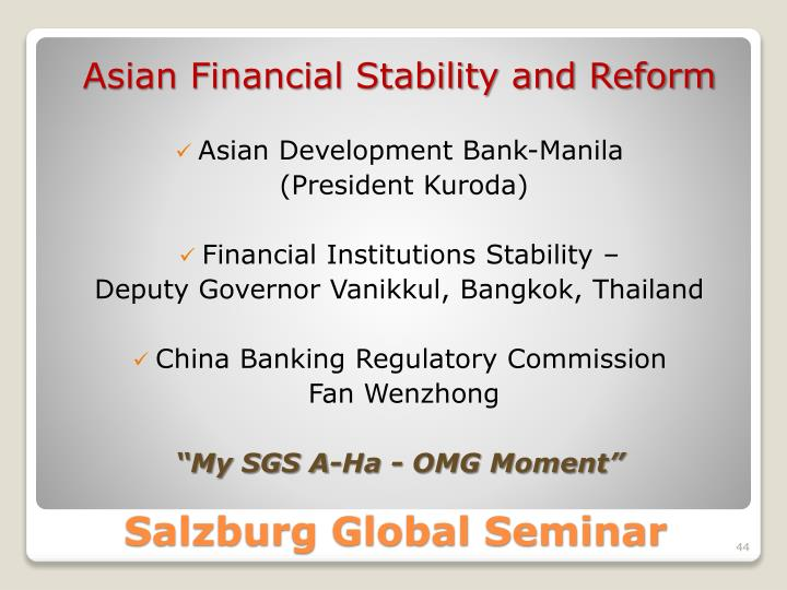 Asian Financial Stability and Reform