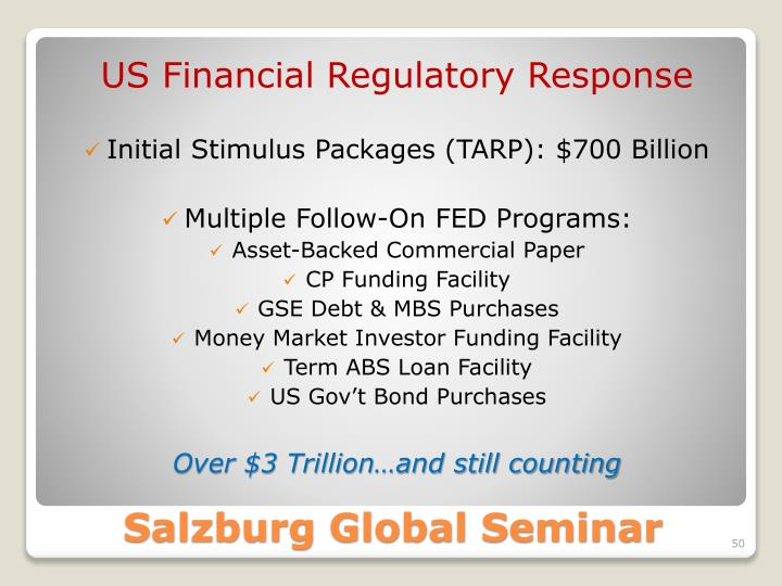 US Financial Regulatory Response