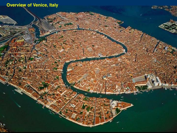 Overview of Venice, Italy