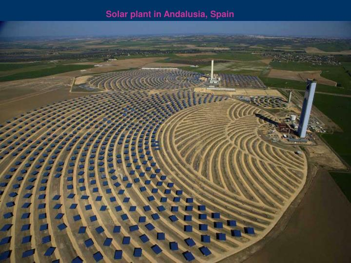 Solar plant in Andalusia, Spain