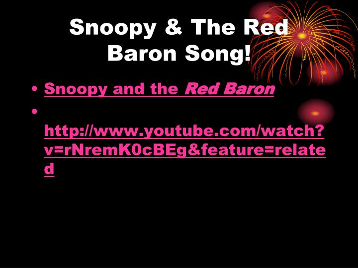 Snoopy & The Red Baron Song!