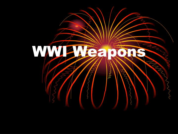 Wwi weapons
