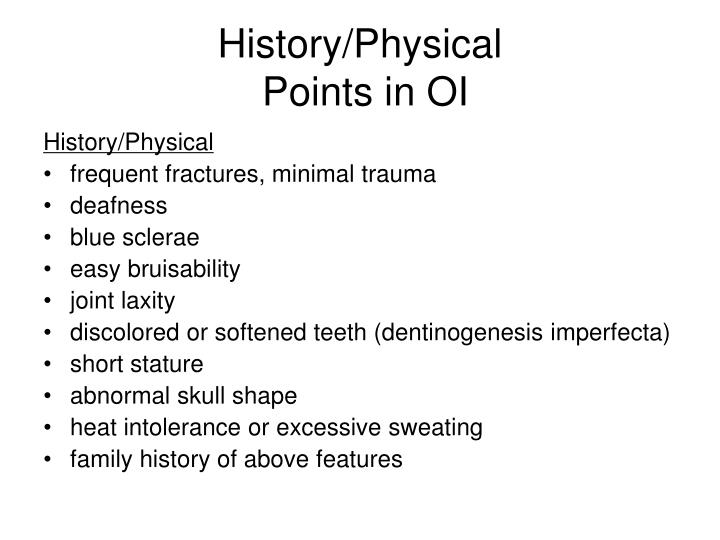 History/Physical