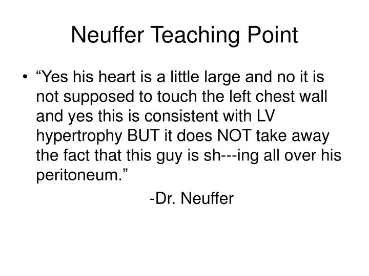 Neuffer Teaching Point