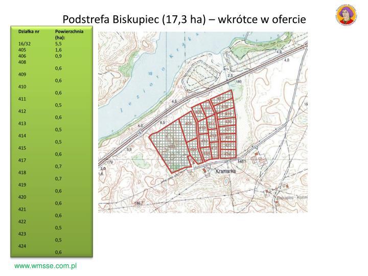 Podstrefa Biskupiec (17,3 ha) – wkrótce w ofercie
