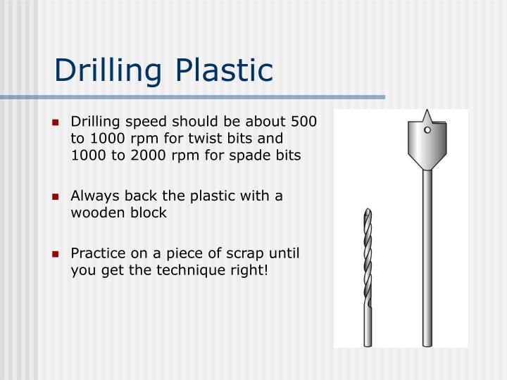 Drilling Plastic