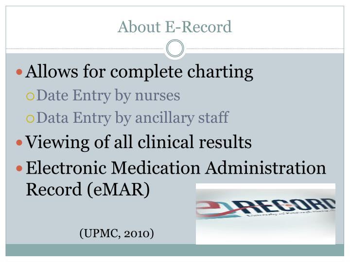 About E-Record