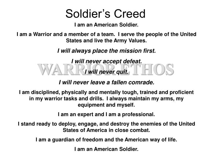Soldier s creed