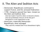 ii the alien and sedition acts