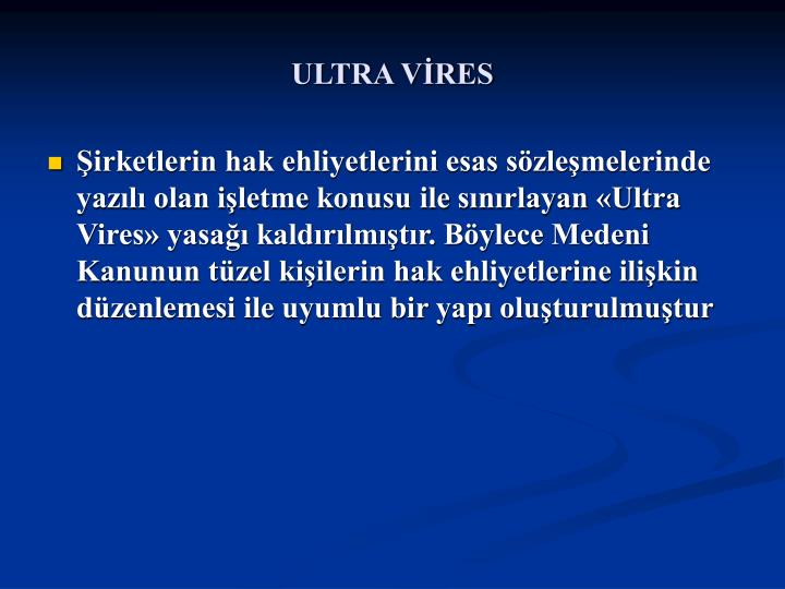ULTRA VİRES