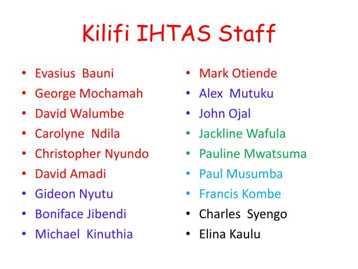 Kilifi IHTAS Staff