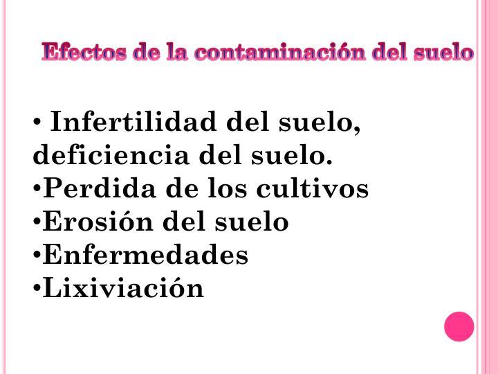 Efectos de la contaminación del suelo