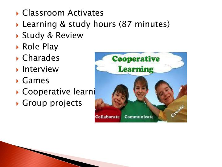 Classroom Activates