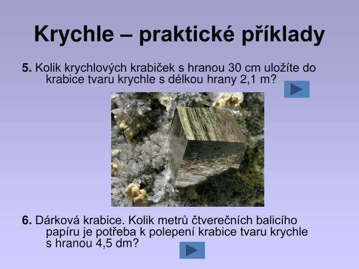 Krychle – praktické příklady
