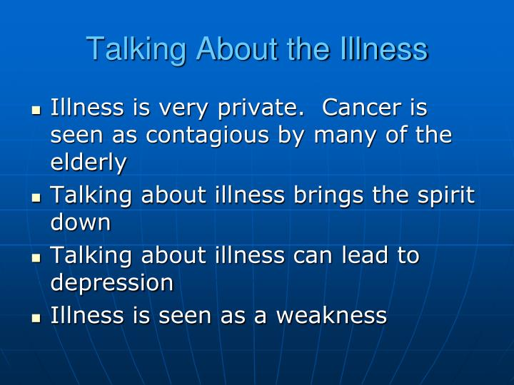 Talking About the Illness